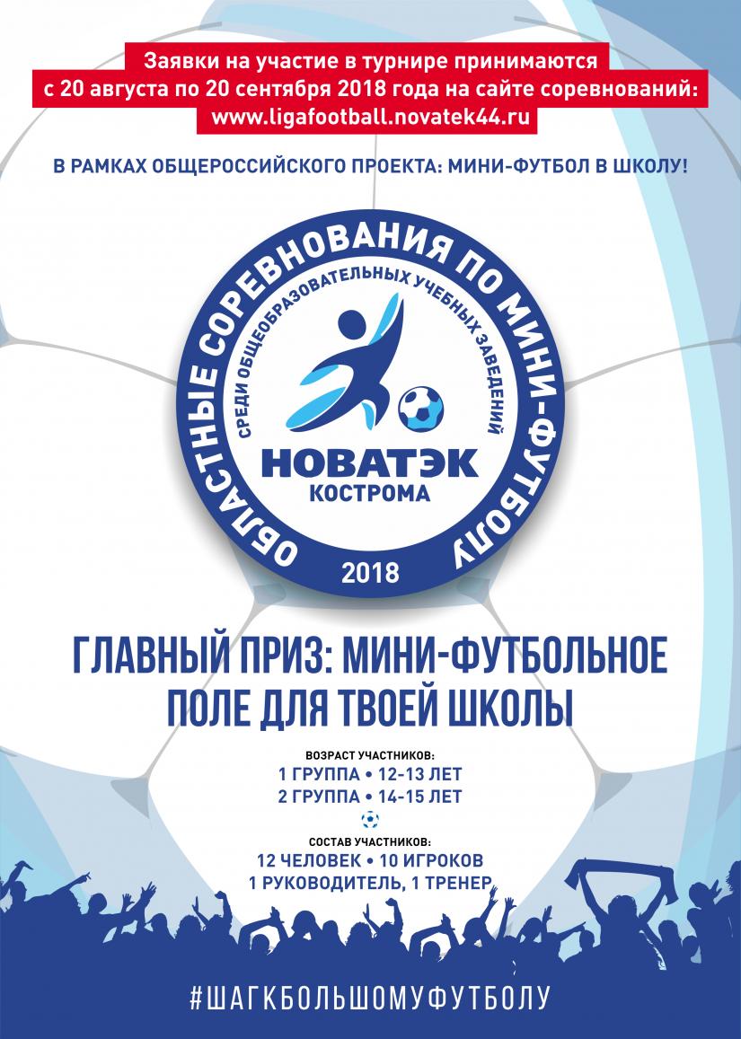 Областные соревнования по мини-футболу НОВАТЕК Кострома 2018