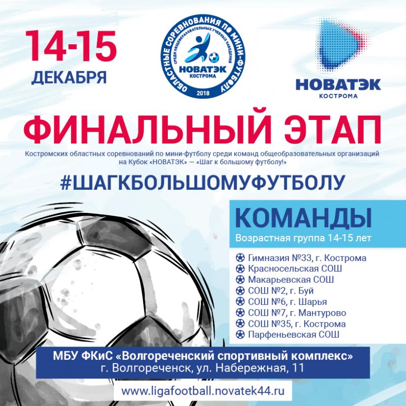 Игры Финального этапа соревнований на Кубок «НОВАТЭК»-«Шаг к большому футболу!»