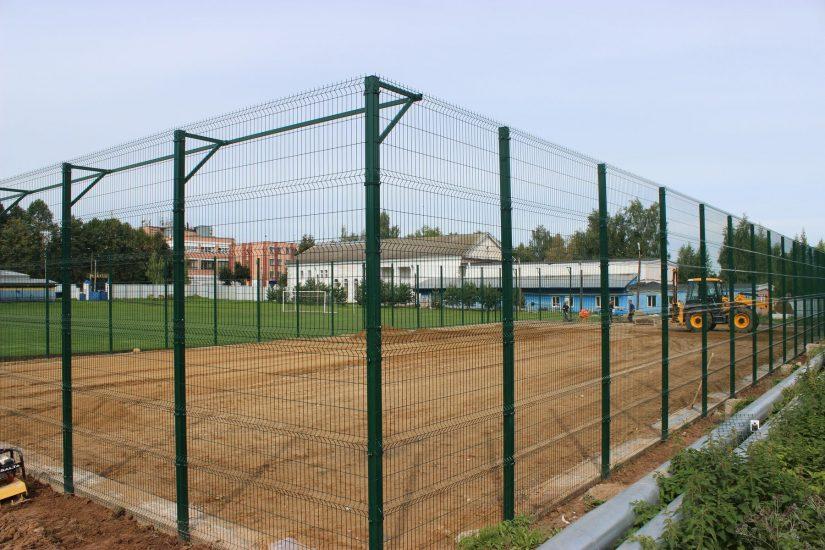 Строительство спортивной площадки в п. Красное-на-Волге